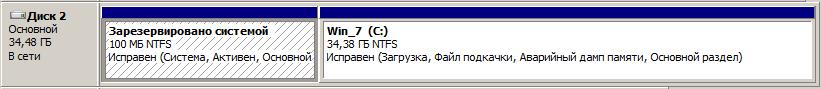 Активный раздел Windows 7