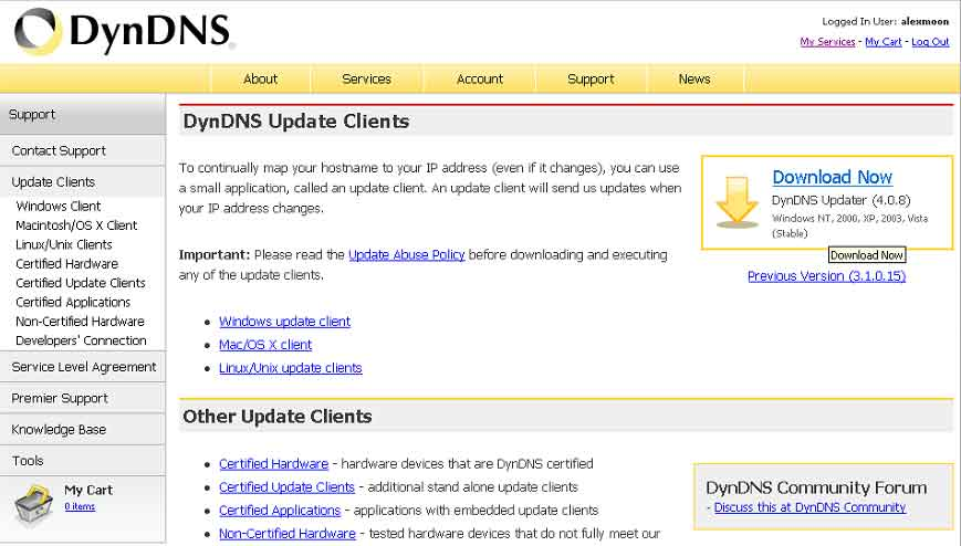Download DynDNS Updater free