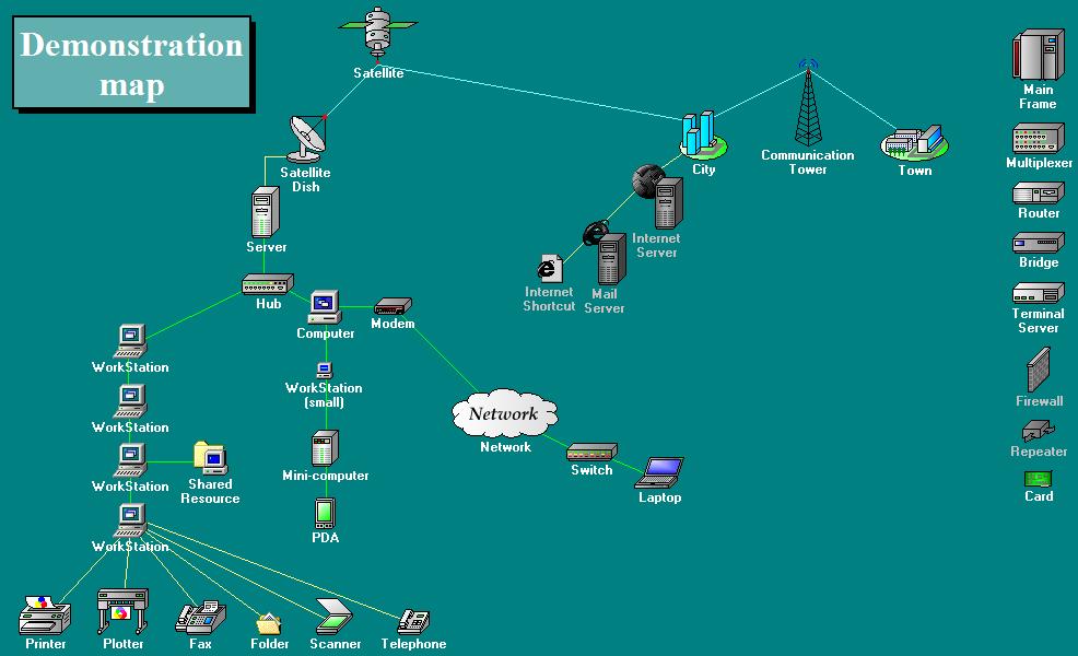 карты локальной сети