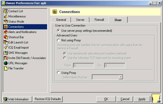 Use Sever proxy settings