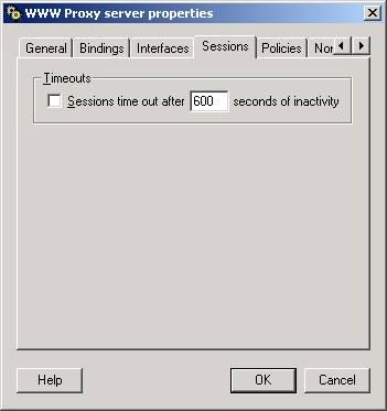 Отключение таймаута неактивности пользователя